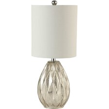 """Creek Classics Diamond Glass 23.5"""" H Table Lamp with Drum Shade"""