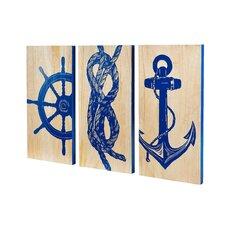 Marine Trio Panels Wall Art (Set of 3)