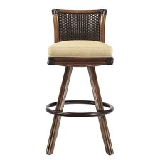 "Lucca 30"" Swivel Bar Stool with Cushion"