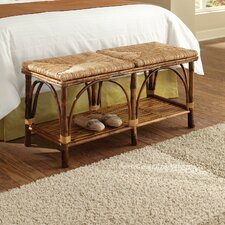 Coastal Chic Rattan Bedroom Bench