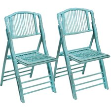 Coastal Chic Folding Dining Side Chair (Set of 2)