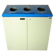 45-Gal Three Stream Free Standing Multi Compartment Recycling Bin