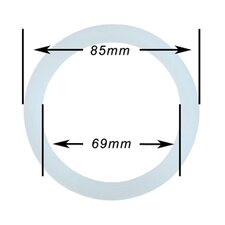 Silicone 10 Cup for Stainless Steel Espresso Gasket (Set of 5)