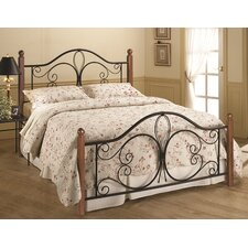 Milwaukee Wood Post Panel Bed with Rails