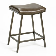 Saddle Adjustable Height Bar Stool with Cushion