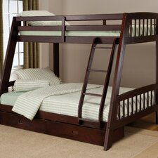 Rockdale Twin over Full Bunk Bed with Built-In Ladder and Storage
