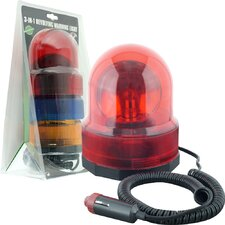 "6"" H Table Lamp 3-in-1 Revolving Warning Light"