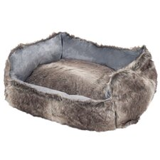 Faux Fur Wolf Dog Bed
