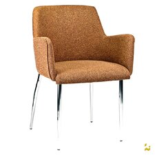 PALMA-4 Wool Arm Chairs with Chrome Legs (Set of 2)