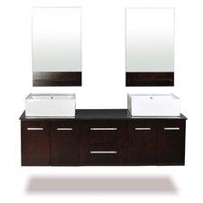 """Skyline 60"""" Double Bathroom Vanity Set"""