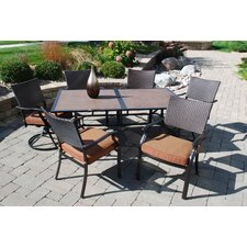 Moreno Valley 7 Piece Dining Set with Cushions