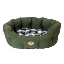 40 Winks Country Oval Sleeper Pet Bed in Green