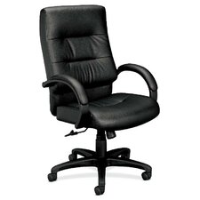 Leather Executive Chair with Padded Arms