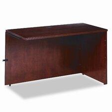 Rich Wood Veneer Desk Return