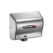 Adjustable High Speed 100 - 240 Volt Hand Dryer in Satin Chrome