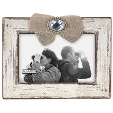 Burlap Ribbon & Jewel 4'' x 6'' Picture Frame