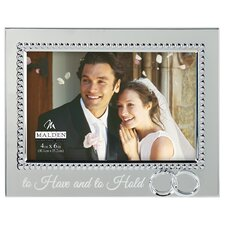"4"" x 6"" Beaded Wedding Rings Picture Frame"