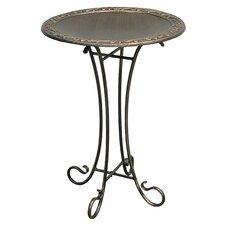 Roman Birdbath with Steel Stand