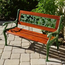 Wild Animal Cast Iron and Hardwood Park Kids Bench