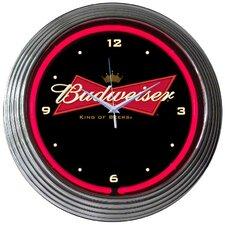 """15"""" Budweiser Bowtie Wall Clock"""