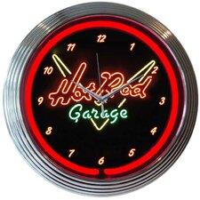 "15"" Hot Rod Garage Wall Clock"