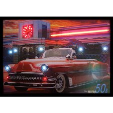 Nifty Fifties Neon LED Framed Photographic Print