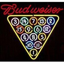 Business Signs Budweiser 15 Ball Rack Neon Sign