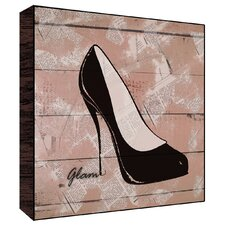 Glam Shoes Wall Art on Wood