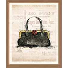 Black Purse Framed Painting Print