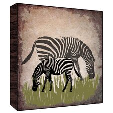 Vintage Zebras Wall Art on Wood