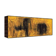 Abstract Wall Art on Wood in Yellow