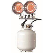 30,000 BTU Portable Propane Forced Air Tank Top Heater