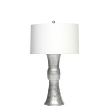 """Turned Metal 20"""" H Table Lamp with Drum Shade"""