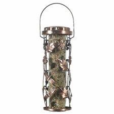 Copper Garden Decorative Caged Bird Feeder