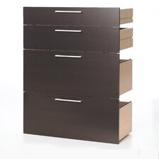 Pierce Office Storage Drawers with Four File Drawers in Beech