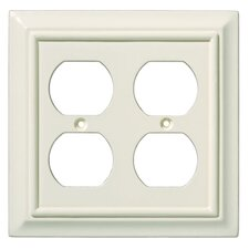 Wood Architectural Double Duplex Wall Plate
