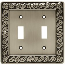 Paisley Double Switch Wall Plate