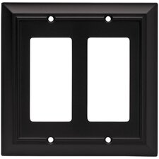 Architectural Double Decorator Wall Plate