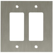 Concave Double GFCI/Rocker Wall Plate