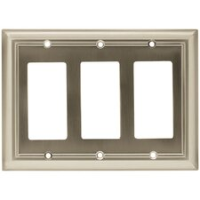 Architectural Triple Decorator Wall Plate