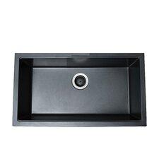 """30.5"""" x 17.13"""" Single Basin Granite Composite Undermount Kitchen Sink"""