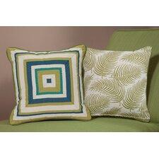 Palm Medium Indoor/Outdoor Sunbrella Throw Pillow