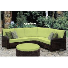 St Tropez 5 Piece Sectional with Cushion