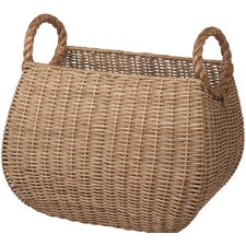 Woven Basket with Rope Handle