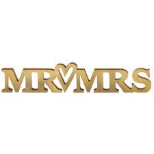 """""""Mr & Mrs"""" Letter Block"""
