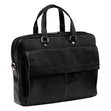 Colombian Slim Leather Laptop Briefcase