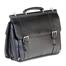 5th Avenue Leather Laptop Briefcase