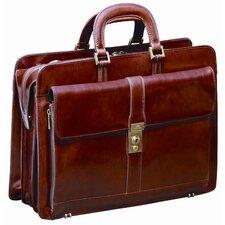 Signature Leather Laptop Briefcase