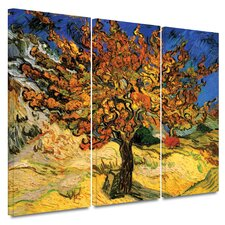 Mulberry Tree by Vincent Van Gogh 3 Piece Canvas Art Set