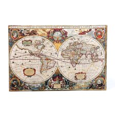 Antique 'Hydrographical Map' Graphic Art on Canvas